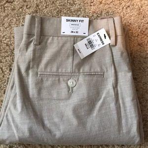 Skinny fit men's dress pants